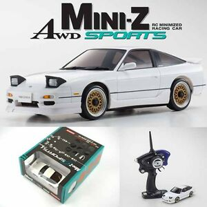 Kyosho Mini Z Awd Sports Ma 020s Nissan 180sx Aero White Drift Car