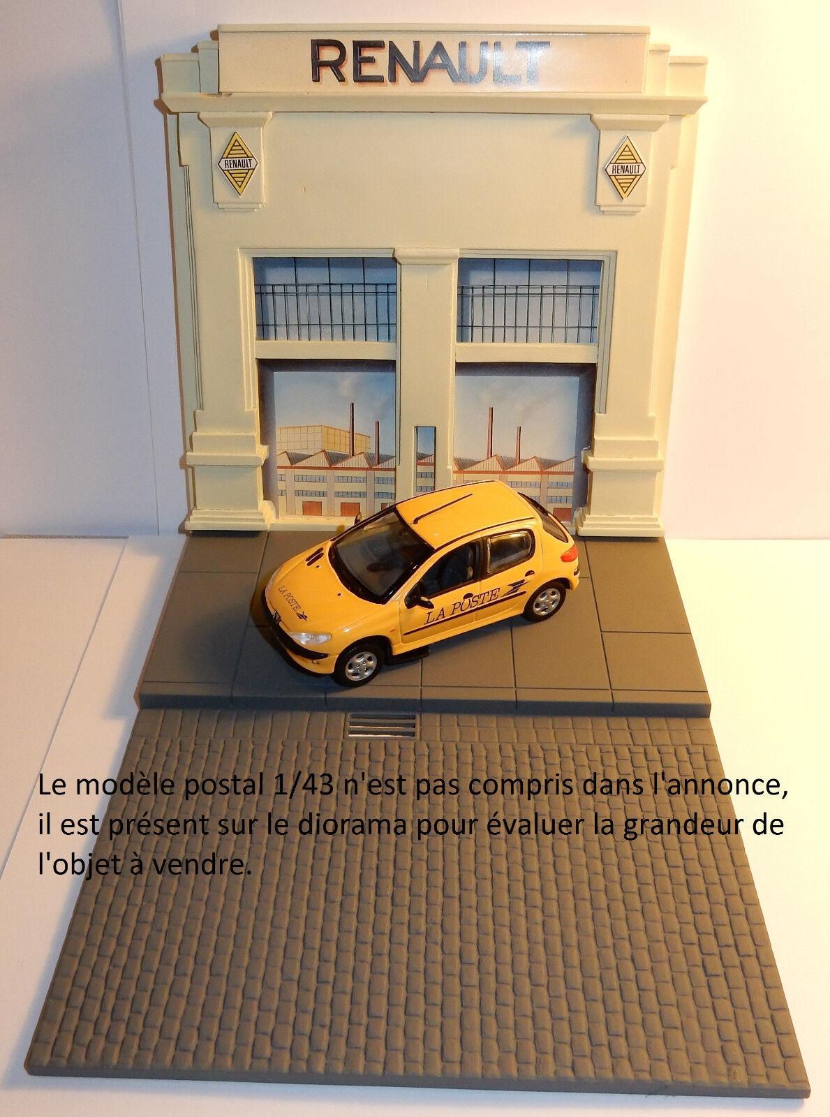 RARE NOREV DIORAMA GARAGE RENAULT POUR MODELES 1 43 DECOR L'ILE SEGUIN TOME 2