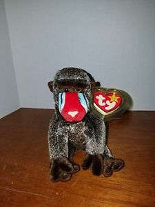 Ty Beanie Baby Cheeks the Baboon RARE and RETIRED with Errors FREE ... 30f36046d9a