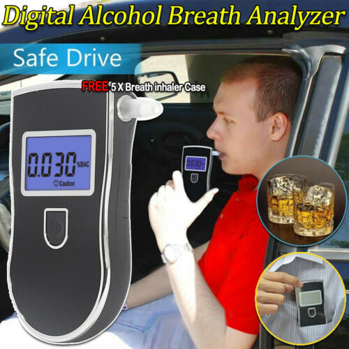 AT-868 Advance Digital Breath Alcohol Tester LCD Breathalyzer Analyzer Detector.