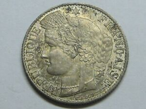 FRANCIA-FRANCE-50-CENTIMES-CERES-1895-A-HIGH-GRADE-SILVER-ARGENT