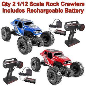 Qty 2 1 12 4WD Danchee RC Rock Crawler Remote Control Off-road Car ... 16fa9ba31d