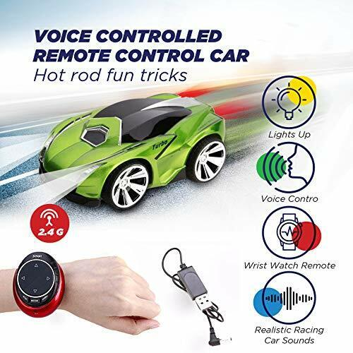 Hand and Voice Activated Wrist RC Remote Control Car with Voice Activation