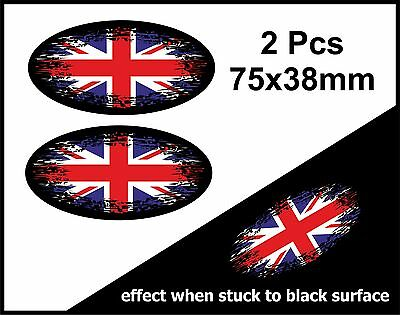 For UK GB Car Sticker with Union Jack Edge British Cars Travelling Abroad
