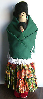 Native-American/ Mexican handmade cloth doll, collectible vintage