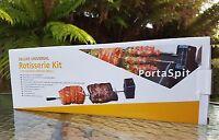 Deluxe Universal Bbq Rotisserie Kit With Additional Bonus Kebab Kit(2 In Total)