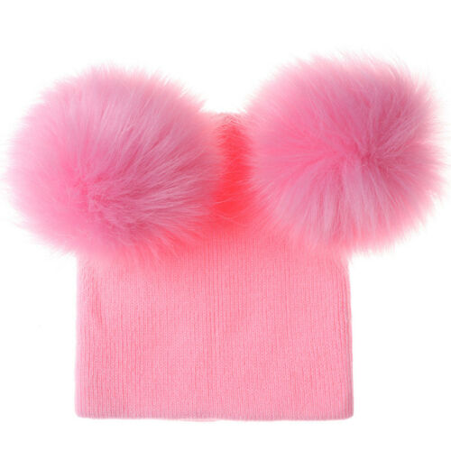Children Kids Baby Hats Newborn With Pom Pom Warm Winter Wool Knit Beanie Caps