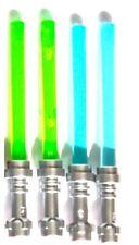 LEGO MINIFIGURE WEAPONS (4) LIGHTSABERS GREEN BLUE STAR WARS GRIEVOUS JEK