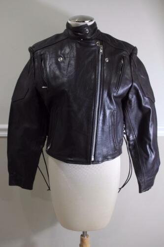 BIGFOOT brown LEATHER biker jacket size large (CO5