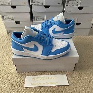 Nike Air Jordan 1 Low UNC Womens University Blue White AO9944-441 ...