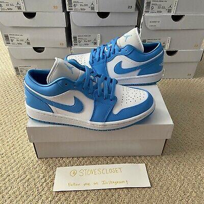 Nike Air Jordan 1 Low UNC University Blue White Womens AO9944-441 ...