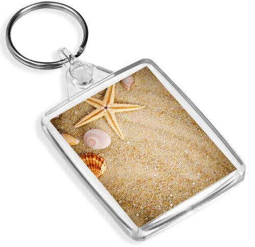 IP02 Seashells Keyring Beach Seaside Sea Shells Holiday Summer Gift #85335