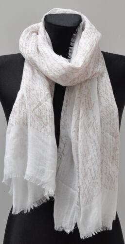 XL Silk Seidenschal Schal Langschal Halstuch Tuch Seide Damen Fransen Schrift