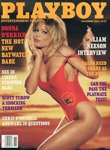 PLAYBOY-NOVEMBER-1996-Ulrika-Ericsson-Donna-D-039-Errico-Liam-Neeson-Chris-O-039-Donnell