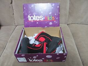 New TOTES kids Boots, Toddler, Tyler Style, Black/Red, Size 6 Medium