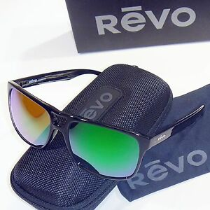 ef8884be0f Image is loading Revo-Holsby-Polarized-Sunglasses-Black -Woodgrain-Green-Water-
