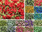 12mm DIY 50/100pcs Satin Ribbon Rose Flower DIY Craft Wedding Appliques/YXT