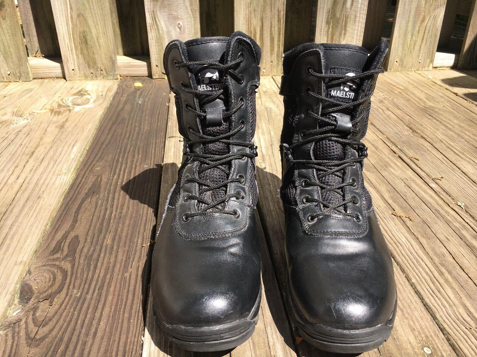 Maelstrom ® TAC ATHLON Para hombre botas impermeables de 11  negro con cremallera lateral