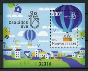 Hungary-2018-MNH-Year-of-Families-1v-M-S-Hot-Air-Balloons-Architecture-Stamps
