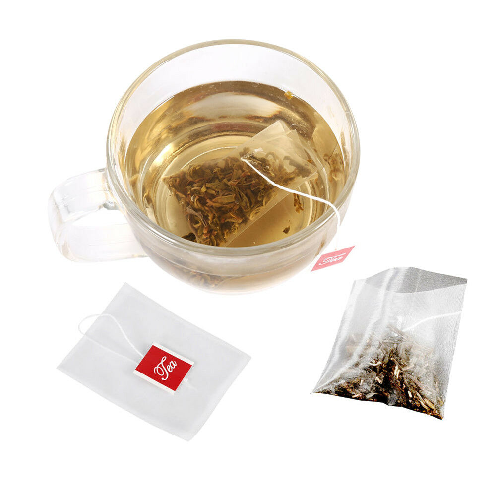 100pcs Empty Tea Bags String Tea infuser Tea Filter Paper Herb Loose Tea Bag  Pg