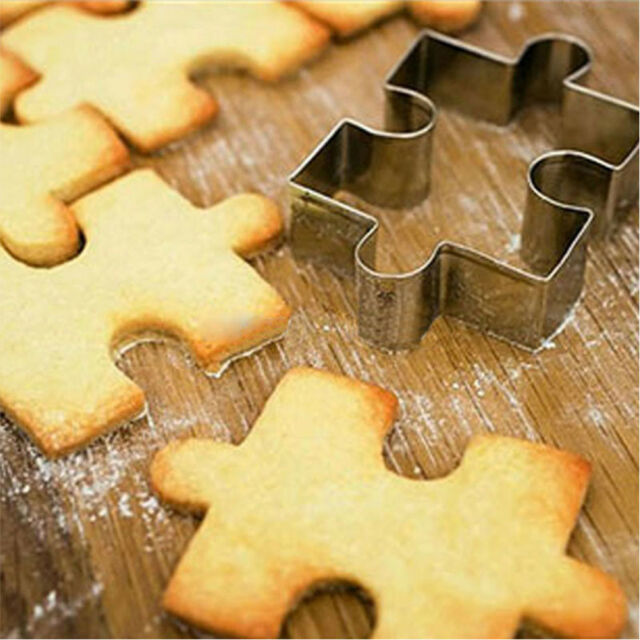 1Pcs Stainless Steel Cake Cookie Puzzle Shape Cookie Cutter Mold Cookie s A\