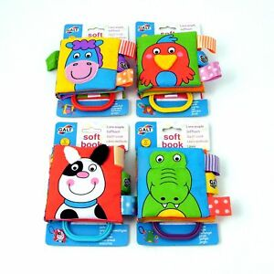 Baby-Book-Padded-Fabric-Farm-Animals-Pets-Jungle-Garden-Galt-Early-Learning-Toy