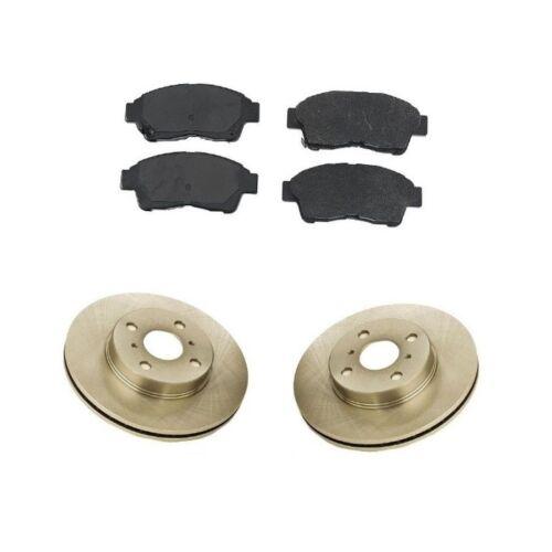 Front Brake Kit w// Rotors and Semi Metallic Pads For Toyota Corolla 93-97 1.8L