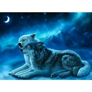 5D-DIY-Full-Drill-Diamond-Painting-2-Wolves-Cross-Stitch-Embroidery-Crafts
