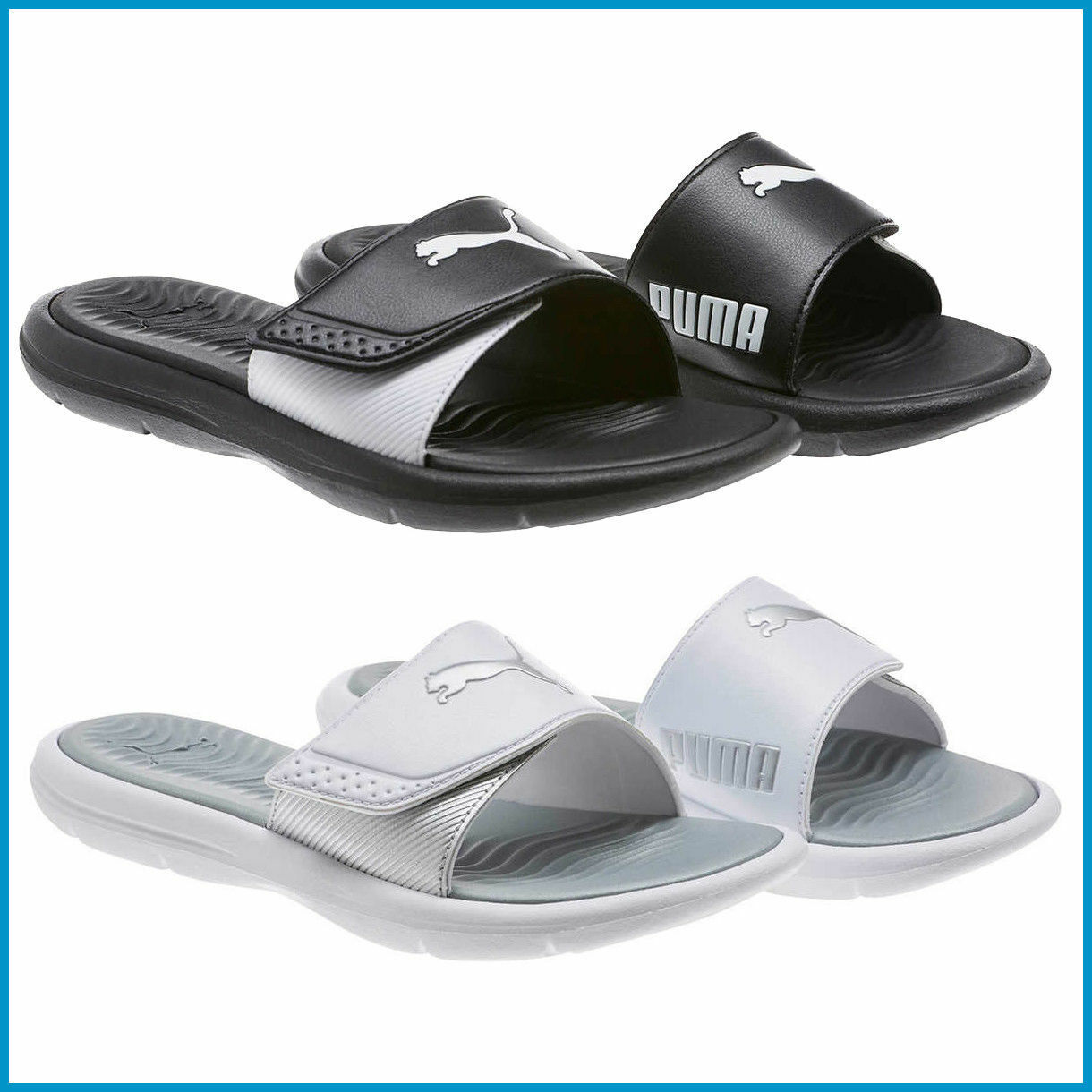 PRE  Puma Women Ladies' Slide PICK Sandal, Black / White, PICK Slide SIZE&COLOR 5e1772