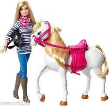 Barbie She Loves her Horse Barbie Doll & White Horse New