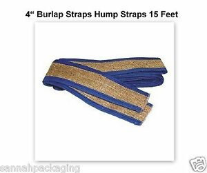 8-Burlap-Straps-Hump-Straps-15-Feet-4-034-Wide-Ends-are-stitched-securely-bound