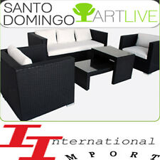 LUXE NEUF 1629€ SALON de JARDIN Lit sofa meuble CHAISE en rotin transat résine!