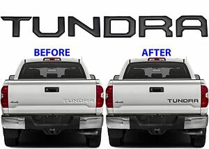 Gloss black tailgate letter inserts for 2014 2018 toyota tundra new image is loading gloss black tailgate letter inserts for 2014 2018 publicscrutiny Image collections