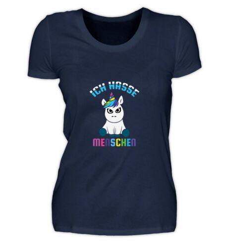 Femmes T Shirt Je Déteste Les Gens Licorne Unicorn Cadeau amie soeur