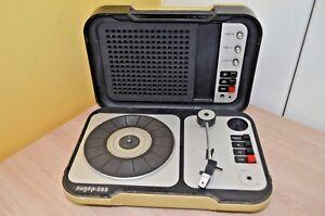 Portable-Soviet-turntable-player-Lider-205-Not-Works-USSR