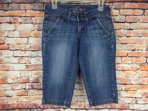 Old-Navy-Womens-Size-0-Regular-Capri-Cropped-Medium-Wash-Denim-Blue-Jeans