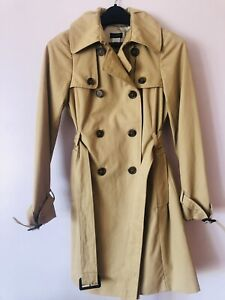 J Crew Womens Size 0 Khaki Belted Trench Coat CLASSIC