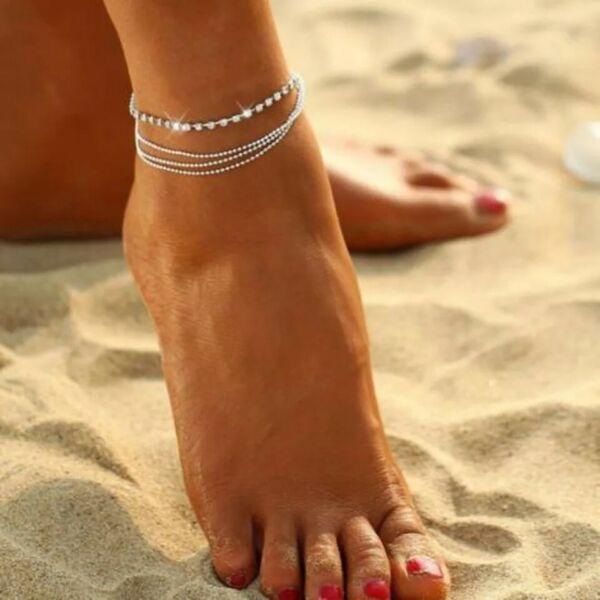 Fußkette Fußkettchen Vintage Boho Bohemian Versilbert Damenschmuck Woman Neu Ovp Einen Einzigartigen Nationalen Stil Haben