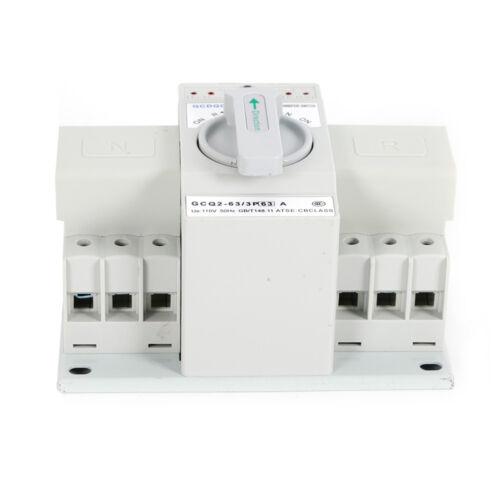 63A 3P Dual Netzteil Automatisch Umschalter Leistungschalter Transferschalter DE