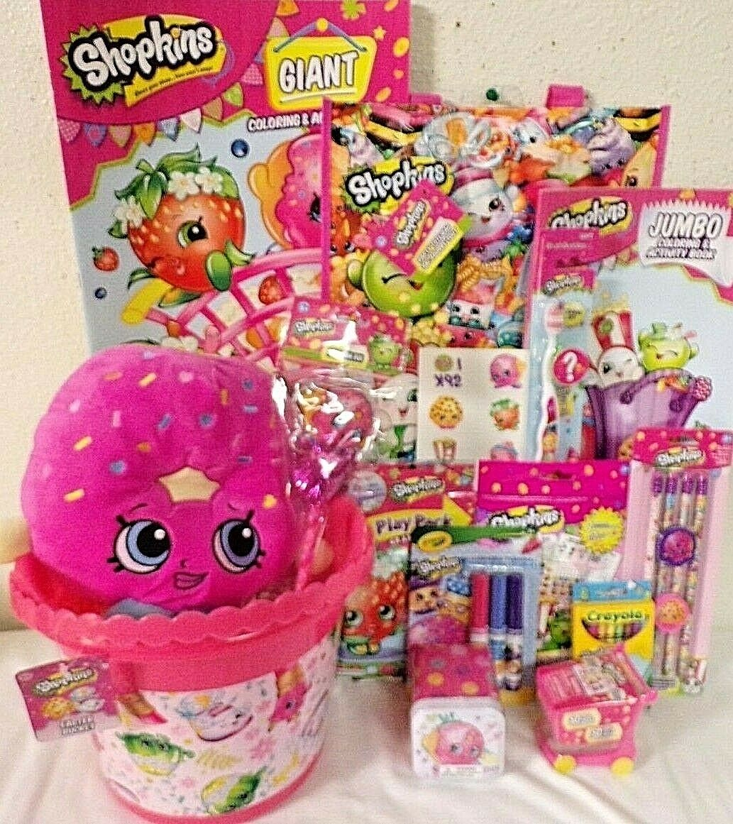 NEW SHOPKINS EASTER GIFT BASKET plush puzzle candy TOYS art art art SCHOOL SUPPLIES fe4ffb