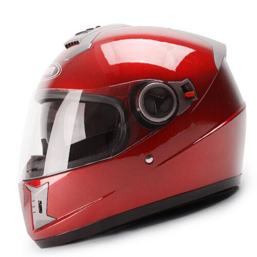 YEMA Motorcycle Helmet Full Face Racing Helmet DOT Sport Dual Visor