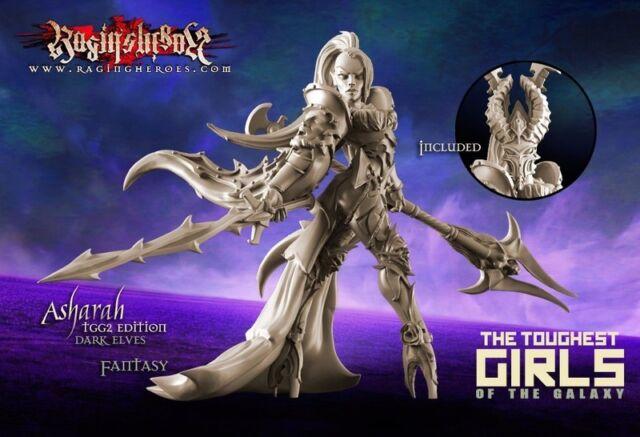 Raging Heroes 22595 Asharah Tgg2 Edition (dark Elves Fantasy) Female Warrior