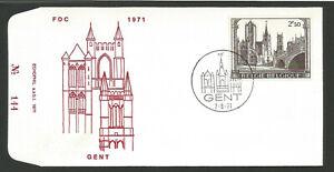 Belgique Fdc 1er Jour 1971 Gent /l1880