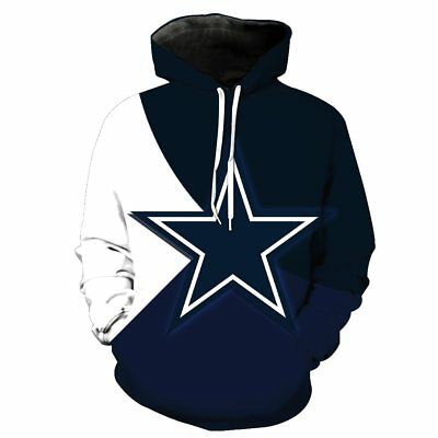 timeless design 1a7f7 d5840 SALE! DALLAS COWBOYS Hoodie Football Hooded Pullover S-5XL Football Team  Fan | eBay