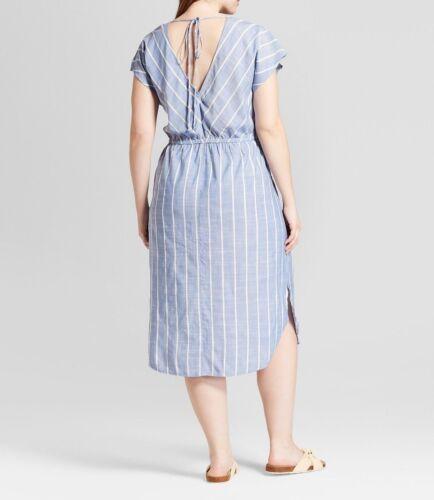 2X Women/'s Plus Size Tie Back Dress Universal Thread™ Blue X
