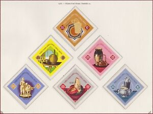 VIETNAM-du-NORD-N-598-603-Objets-Art-1968-North-Vietnam-509-514-Handicraft-MNH