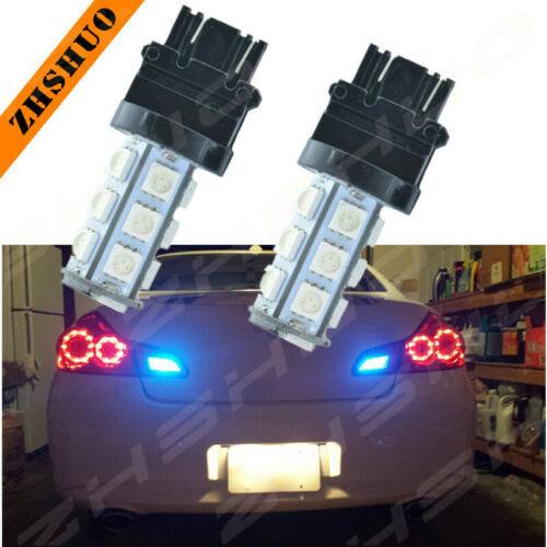 2*LED Brake Stop Tail Light Bulbs 3157 3057 Blue for Chevy Silverado 1500 99-13