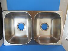 "*RV 50/50 STAINLESS STEEL DOUBLE KITCHEN SINK 27"" X 16"" X 7"""