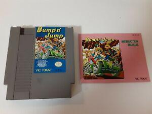 Bump-N-Jump-NES-Vic-Tokai-With-Manual