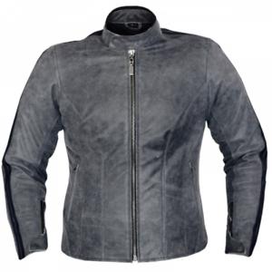 new style 86a86 5abf0 Dettagli su SALDI Giacca motorrad di pelle per donna con protezioni colore  grigio 1220 CROFT